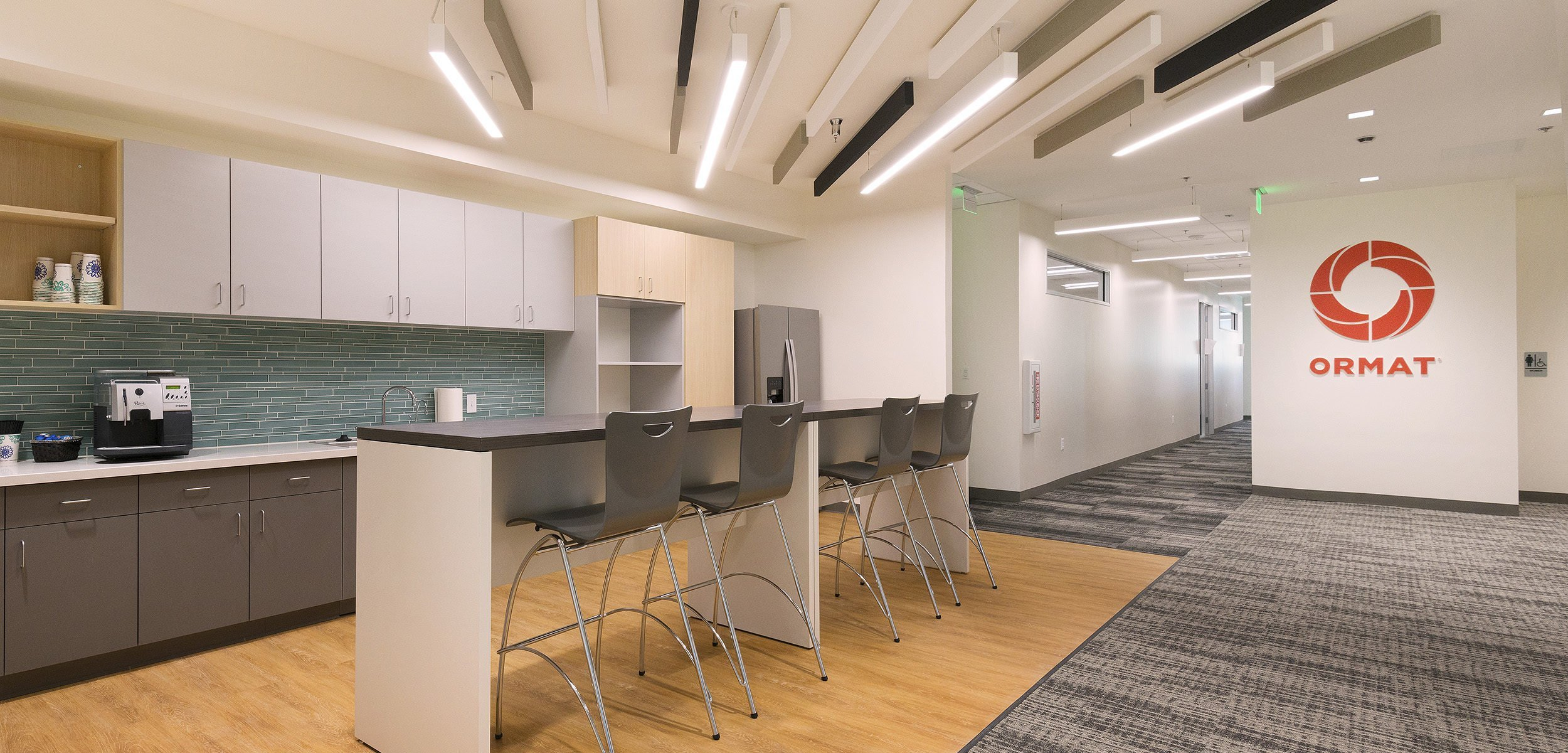 Ormat's headquarters in Reno includes office areas and conference rooms